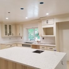 new white kitchen cabinet