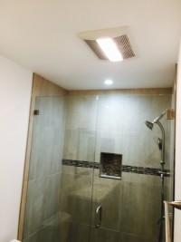 frame less shower door install
